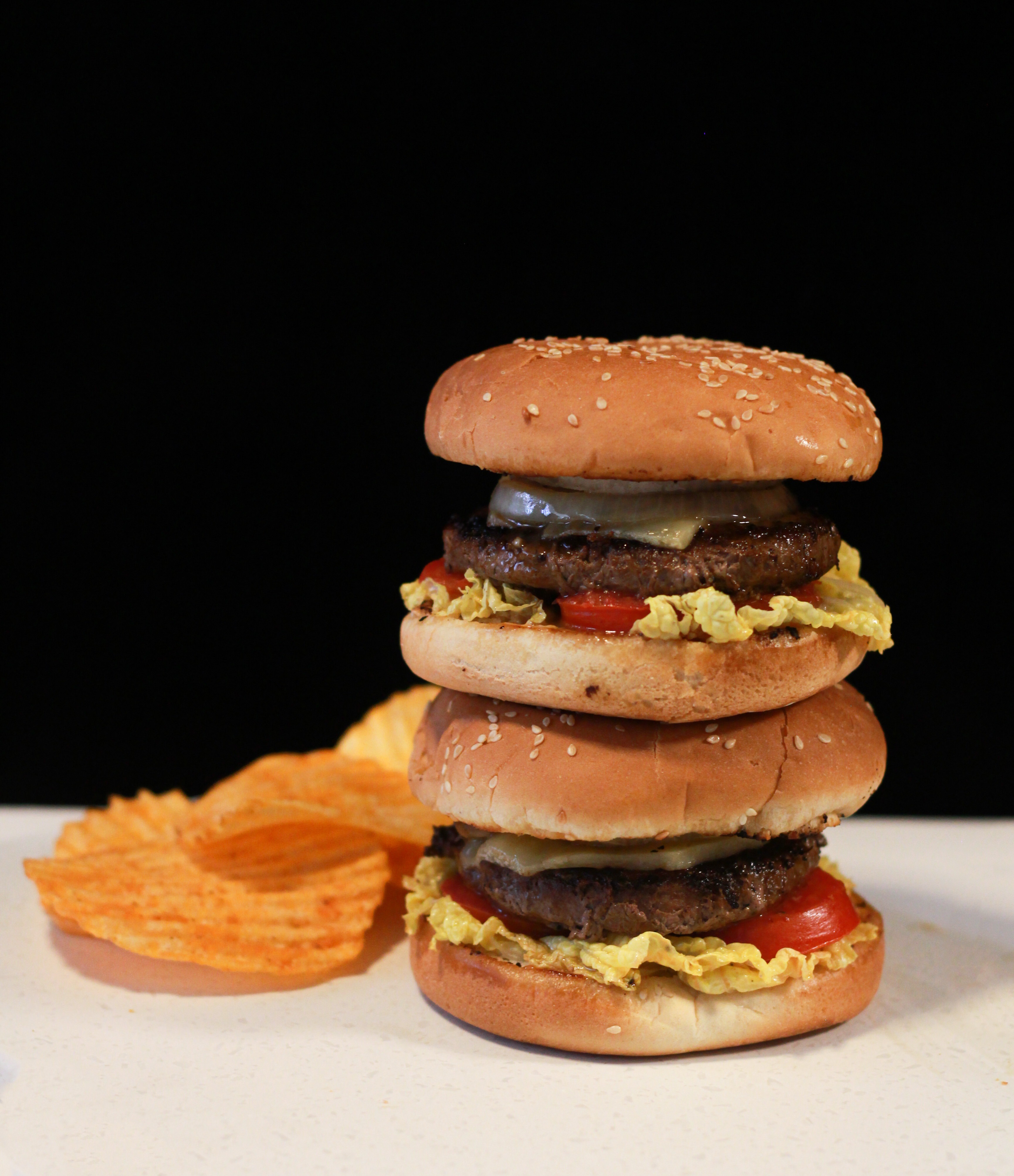 Stacked burger